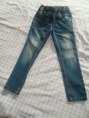 Girls Next Dark Blue Denim Jeggings Jeans Elasticated Extendable Waist 3-4 Years
