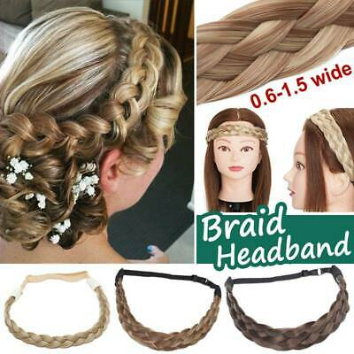 100% Real Thick Hair Hairband Headband Braids as Natural Human Hair Extensions
