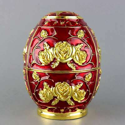 Collect Old Cloisonne Hand-Carved Bloomy Flower Royal Family Noble Toothpick Box