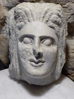Roman Marble Relief Fragment .  Stone Relief