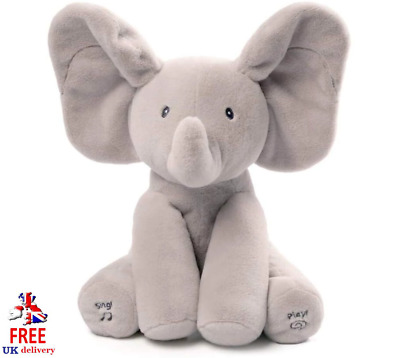Baby Gund Flappy The Elephant Talks & Plays Peek-a-Boo