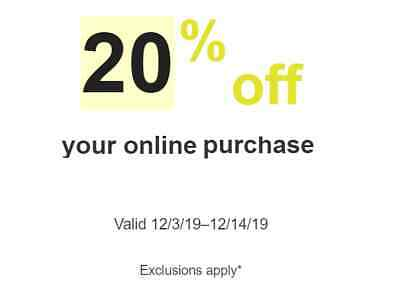 Target 20% Off Online purchase - Target.com Only Purchase