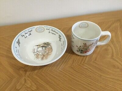 Wedgwood cup and bowl, baby shower gift