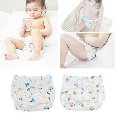 Newborn Baby Summer Washable Cotton Cloth Nappy Diaper Reusable Diaper Pant