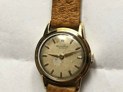"Vintag IWC International Watch Co "" Damenuhr 750 Massiv  Gold"