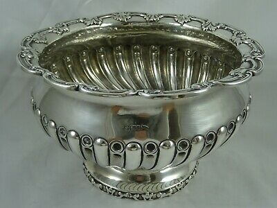ATTRACTIVE, solid silver ROSE BOWL, 1900, 798gm - WALKER & HALL