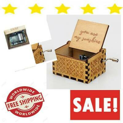 Wooden Music Box You Are My Sunshine For Daughter Mom Granddaughter Wind Up Wife