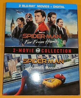 Spider-Man Far From Home & Homecoming - 2 Movie Collection (Blu Ray + Dig) NEW