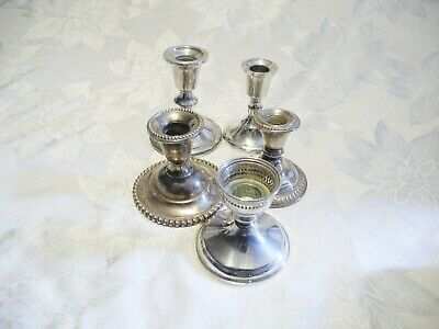LOT of 5 PCS WEIGHTED STERLING SILVER CANDLE HOLDERS
