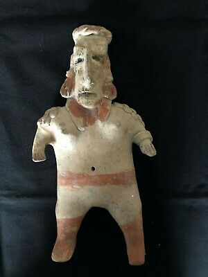 Pre-Columbian JALISCO Standing Female  Figure,  ca.100 BC - 250 AD. VERY LARGE!