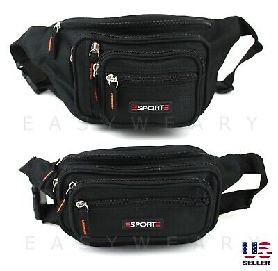 Waist Bag Fanny Pack Mens Women Hip Belt Bum Pouch Waterproof Sport Travel Purse