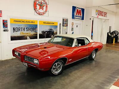 1968 Pontiac GTO - 242 VIN - POWER CONVERTIBLE TOP - 428 ENGINE - Red Pontiac GTO with 79,179 Miles available now!