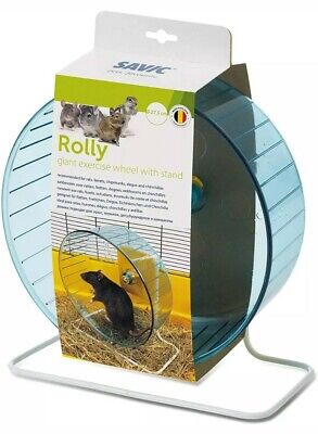 Savic Rolly Rodent Exercise Wheel 27.5cm Rat Pet Chipmunk Clear NO STAND