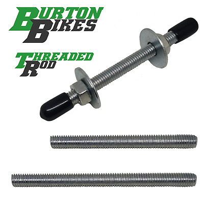 M8 threaded rod, short cut studs in various lengths, BZP, 70mm to 250mm