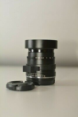 Zonlai 22mm Fujifilm X mount lens, mint, boxed with accessories, focus tab