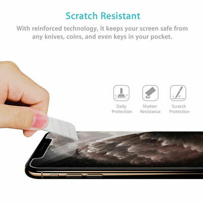 For iPhone 5 6 6s 7 8 Plus SE X XR Max Gorilla Tempered Glass Screen Protector