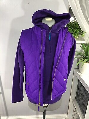Mountain Warehouse-Purple-Gap Fur Lined Quilted Waistcoat Bundle Girls Age 12-13