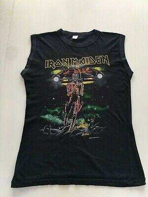 Rare Iron Maiden Somewhere on Tour 1986 T Shirt - Vintage - Medium