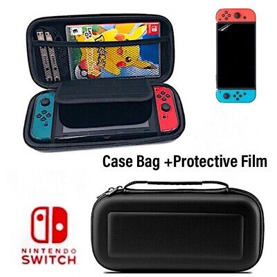 For Nintendo Switch Case Bag Hard Shell Travel Carrying  Pouch+ Protective Film
