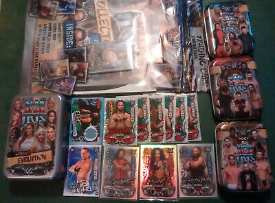 WWE Topps Slam Attax Live Starter Pack Full Base Set Tins limited Bos champions