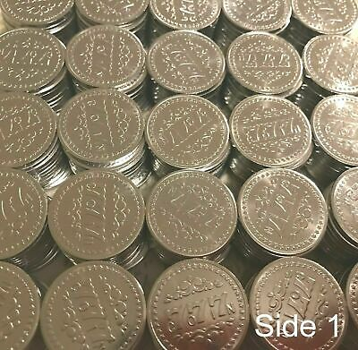 New 500 Matching 777 Authentic Pachislo Slot Machine Tokens - Never Used