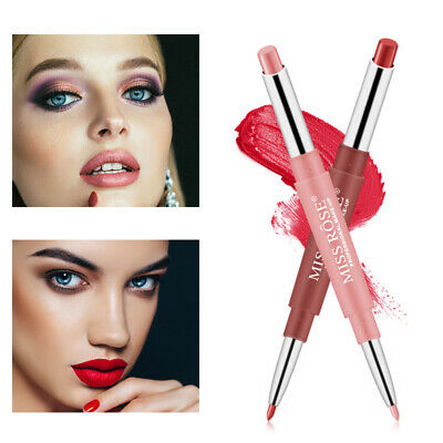 MISS ROSE Lip Liner Double-Headed Lipstick Pen sexy Matte Long Lasting Cosmetics