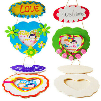 Kids DIY Painting Photo Frame Wooden Toy Learning Early Education Toys FR