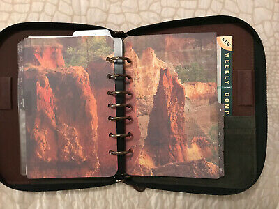 Franklin Covey Spacemaker Grand Canyonland Leather 7 Rings Organizer 19095.058