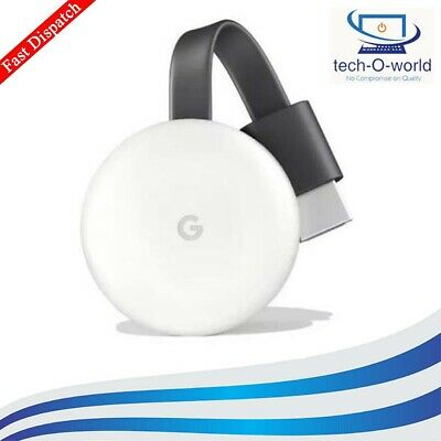 3Rd Generation Google Chromecast Media Streamer Full Hd 1080P Wifi White