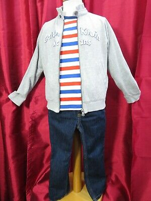 Boys CALVIN KLEIN sweatshirt Timberland jeans & Boden t-shirt outfit age 5-6 yrs