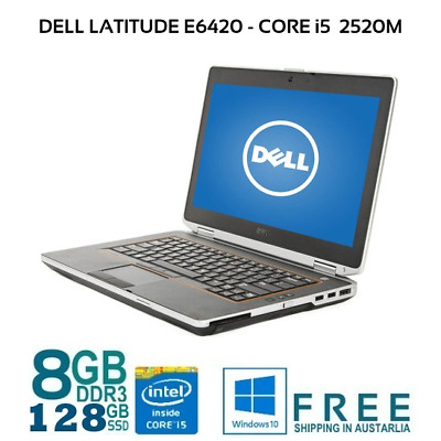 "Dell Latitude E6420 Core i5-2520M 2.5Gh 8Gb 128Gb SSD DVDRW WiFI 14"" HDMI Laptop"