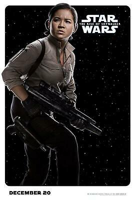 Rose Tico Star Wars Movie Poster The Rise of Skywalker Print Fabric Art X-39
