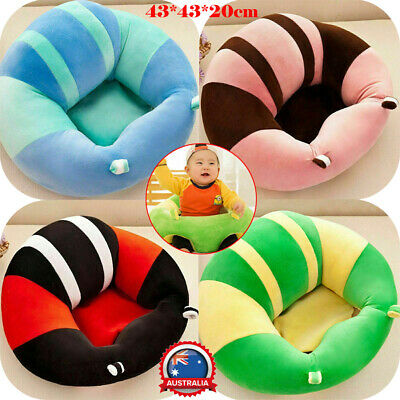Baby Kids Soft Support Seat Sit Up Chair Cushion Sofa Plush Pillow Toy Pads AU