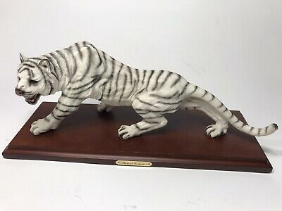 White Tiger Collectible Wild Cat Animal Decoration Figurine Statue Standing  14""