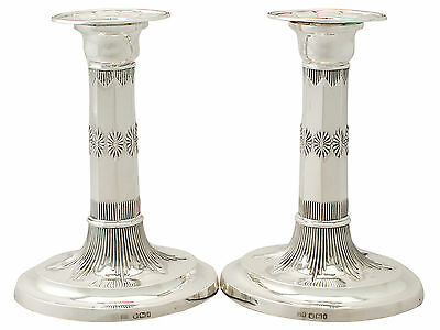 Antique Edwardian Pair of Sterling Silver Candlesticks - 1901