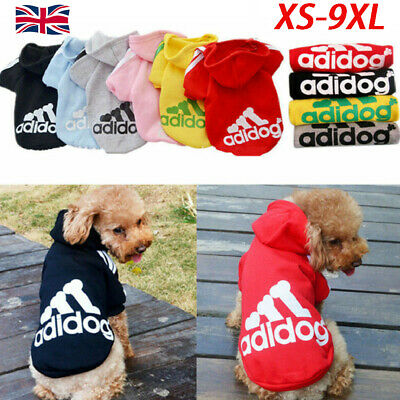 Cute Adidog Hoodies Female/Male Small Dogs Outfits Apparel Dog Clothes Warm Hot_