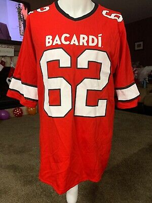 Bacardi Rum Promotional Football Red V Neck Jersey Size Medium