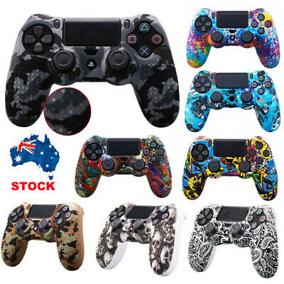 Case Skin Grip Cover For Sony PlayStation 4 PS4 Controller Slim Pro Gamepad New