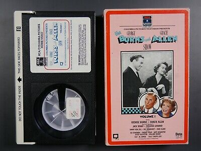 The George Burns and Gracie Allen Show Vol. 1 (1950) - Betamax Movie (NOT VHS)