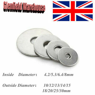 FORM C WASHERS A2 STAINLESS STEEL M3 M4 M5 M6 M8 A2 Penny Repair Flat Washers