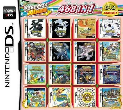 468 in 1 Game Games Cartridge Multicart For Nintendo DS NDS NDSL NDSi 2DS 3DS US