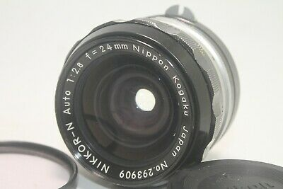 Nikon NIKKOR-N 24mm f/2.8 Non-Ai MF Wide Angle Prime Lens [Excellent] From JAPAN