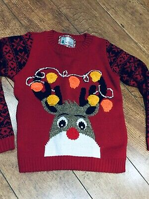 Kids Used Rudolph Christmas Jumper Age 7-8
