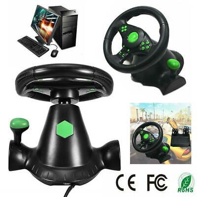 Gaming Vibration Racing Steering Wheel and Pedals for Xbox 360 PS3 PC USB AU