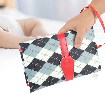 Folding Large Pocket Baby Diaper Organizer Bag Changing Pad Kids Nappy Storage G