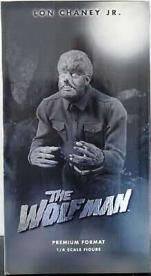 Sideshow The Wolfman Premium Format Figure Silver Screen Edition Statue Replica