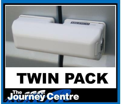 Milenco High Security Van Door Locks Dead Locks Twin Pack Motorhome - 3063