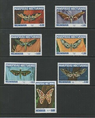 Thematic Stamps Animals - NICARAGUA 1983 MOTHS 2463/9  7v mint