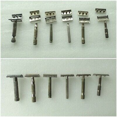 Lot of 6 Vintage Safety Razor  / Unknown