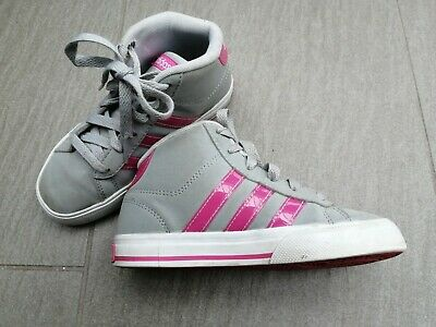 Girls Adidas Neo Hi Top Trainers Size 12